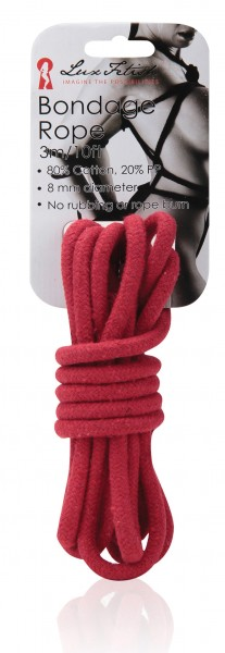 LUX FETISH Bondage Rope red 3M