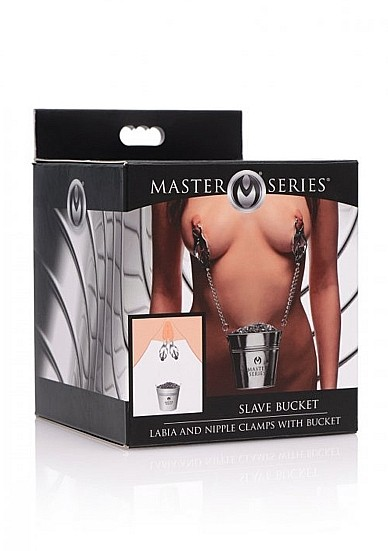 Slave Bucket Labia and Nipple Clamps - Silver