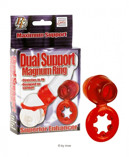 Dual Support Magnum Ring Red