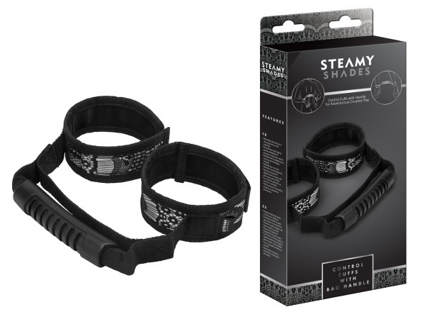 STEAMY SHADES Control Cuffs with Bag Handle